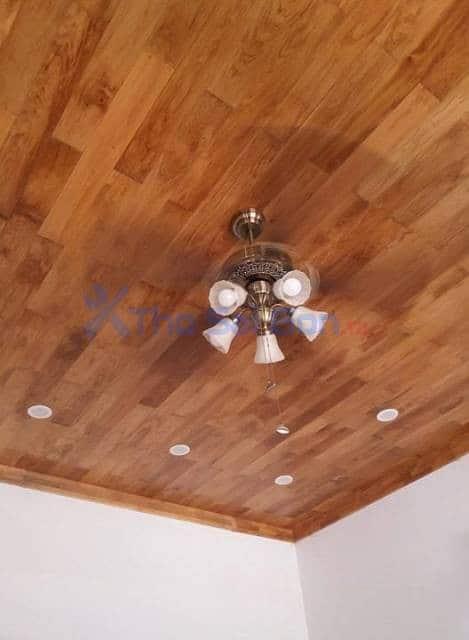 Lắp quạt trần trang trí cho phòng khách